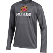 Under Armour Youth Maryland Terrapins Grey Long Sleeve Tech Performance T-Shirt