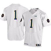 Under Armour Youth Notre Dame Fighting Irish #1 Replica White Football Jersey