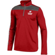 Under Armour Youth Wisconsin Badgers Red UA Tech Quarter-Zip Shirt