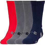 Under Armour Kids' HeatGear Color Crew Sock 4 Pack