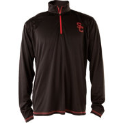 USC Authentic Apparel Men's USC Trojans Black Quarter-Zip Shirt