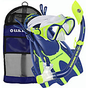 Aqua Lung Sport Youth Buzz Jr. and Island Dry Jr. Snorkel Set