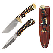 Uncle Henry Elk Hunter 2-Piece Drop Point Fixed Blade Knife Combo