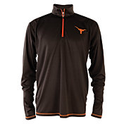 University of Texas Authentic Apparel Men's Texas Longhorns Black Quarter-Zip Shirt
