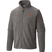 Columbia Men's Texas Longhorns Grey Flanker Full-Zip Fleece