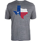 University of Texas Authentic Apparel Men's Texas Longhorns Grey Flag State T-Shirt
