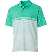 Walter Hagen Men's Engineered Stripe Golf Polo
