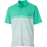 Walter Hagen Men's Engineered Stripe Golf Polo