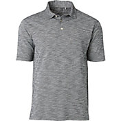 Walter Hagen Men's Slub Oxford Print Golf Polo