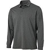 Walter Hagen Men's Essentials Long Sleeve Stripe Golf Polo