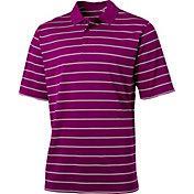 Walter Hagen Men's Essentials Textured Wide Stripe Golf Polo