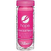 Wilson HOPE Pink Racquetballs