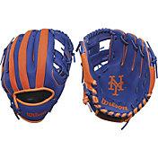 """Wilson 10"""" A200 New York Mets T-Ball Glove"""