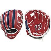"Wilson 10"" A200 Washington Nationals T-Ball Glove"