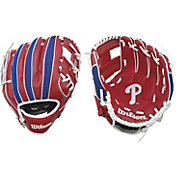 "Wilson 10"" A200 Philadelphia Phillies T-Ball Glove"