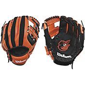 "Wilson 10"" A200 Baltimore Orioles T-Ball Glove"