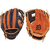 "Wilson 10"" A200 Detroit Tigers T-Ball Glove"