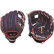 """Wilson 10"""" A200 Minnesota Twins T-Ball Glove"""