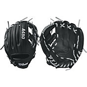"""Wilson 10.75"""" Youth Dustin Pedroia A450 Series Glove"""