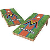 Wild Sports 2' x 4' Miami Marlins XL Tailgate Bean Bag Toss Shields