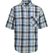 Woolrich Men's Tall Pine Madras Button Down Short Sleeve Shirt