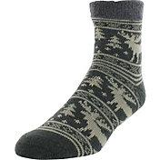Yaktrax Men's Moose Cozy Cabin Socks