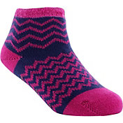 Yaktrax Toddler Cozy Cabin Chevron Crew Socks