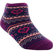 Yaktrax Toddler Cozy Cabin Heart Crew Socks