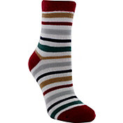 Yaktrax Women's Holiday Cozy Stripe Cabin Socks