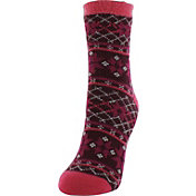 Yaktrax Women's Snowflake Cozy Cabin Socks