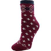 Yaktrax Women's Cozy Cabin Fairisle Socks