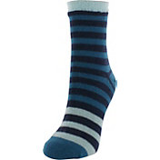Yaktrax Women's Cozy Half Stripe Cabin Socks