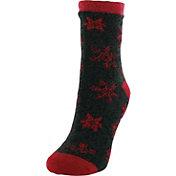 Yaktrax Women's Marled Snowflake Cozy Cabin Socks
