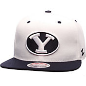 Zephyr Men's BYU Cougars White/Blue Z11 Snapback Hat
