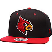 Zephyr Men's Louisville Cardinals Black/Cardinal Red Z11 Snapback Hat