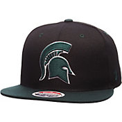 Zephyr Men's Michigan State Spartans Black/Green Z11 Snapback Hat