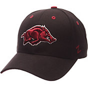 Zephyr Men's Arkansas Razorbacks Black Competitor Adjustable Hat