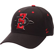Zephyr Men's San Diego State Aztecs Black Competitor Adjustable Hat