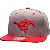 Zephyr Men's Southern Methodist Mustangs Grey/Red Z11 Snapback Hat