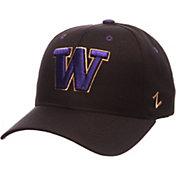Zephyr Men's Washington Huskies Black Competitor Adjustable Hat