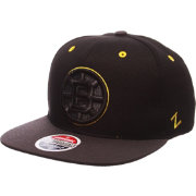 Zephyr Men's Boston Bruins Z11 Blackout Black Snapback Hat