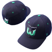 Zephyr Men's Hartford Whalers Power Play Navy Fitted Hat