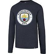 '47 Men's Manchester City Club Logo Navy Long Sleeve Shirt