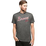 '47 Men's Atlanta Braves Reverb Black T-Shirt