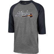 '47 Men's Atlanta Braves Club Three-Quarter Sleeve Shirt