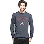 '47 Men's Atlanta Braves Navy Long Sleeve Shirt