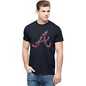 '47 Men's Atlanta Braves Crosstown Flanker Navy T-Shirt