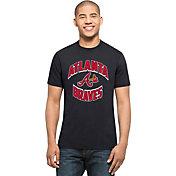 '47 Men's Atlanta Braves Splitter Navy T-Shirt