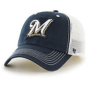'47 Men's Milwaukee Brewers Taylor Closer Navy Fitted Hat