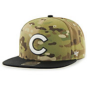 '47 Men's Chicago Cubs Camo Overlord Captain Adjustable Snapback Hat